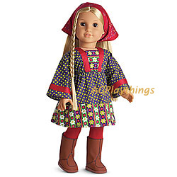 RETIRED American Girl Doll Julie Christmas Outfit Glitter Gold Tights ONLY