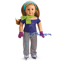 American Girl Of The Year 2008 Mia St.Clair Practice Turquoise Headband Only